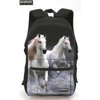 Large Capacity 3D Horse Print Laptop Backpack Cool Children Animal School Bags For Girls Boys Bagpack