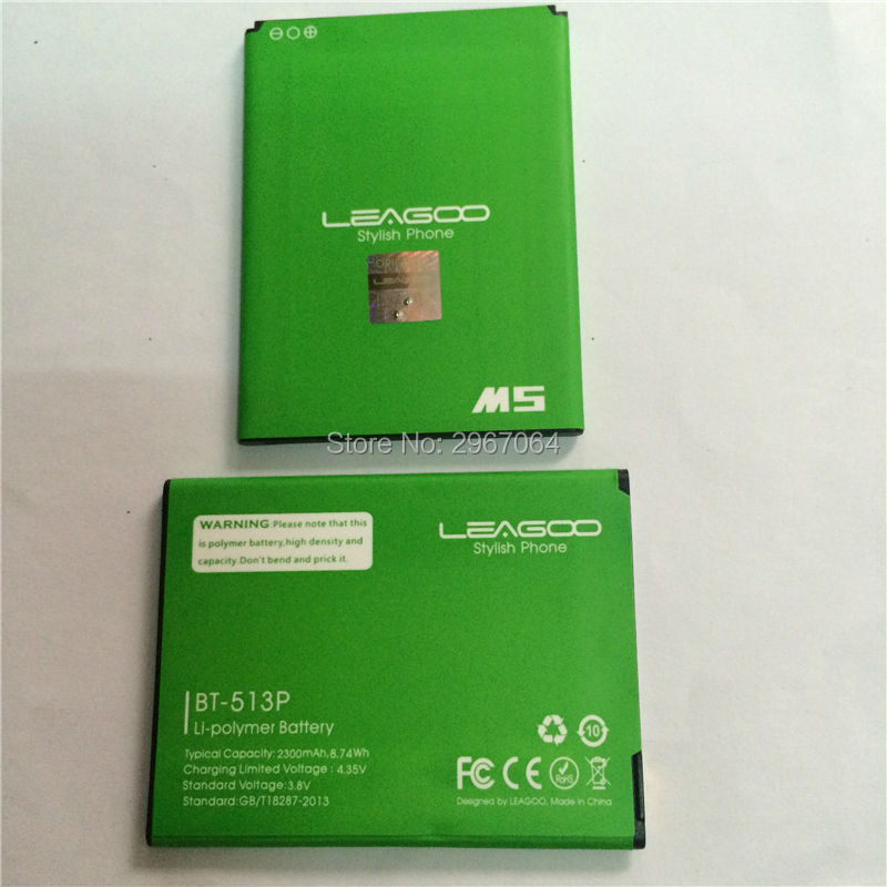 Mobile phone battery BT-513P battery for LEAGOO M5 2300mAh High capacit Long standby time Original battery LEAGOO phone battery