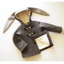 Littlegoodall Rabbit Dot Coat Jacket With Toddler Boy Winter Warm Coat For Kids Bunny Girls Clothing