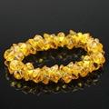 Recommend!! 2016 New arrival 7.50mm gold color Cubic Zirconia beads DIY Bracelets luxury romantic wedding Women bracelets