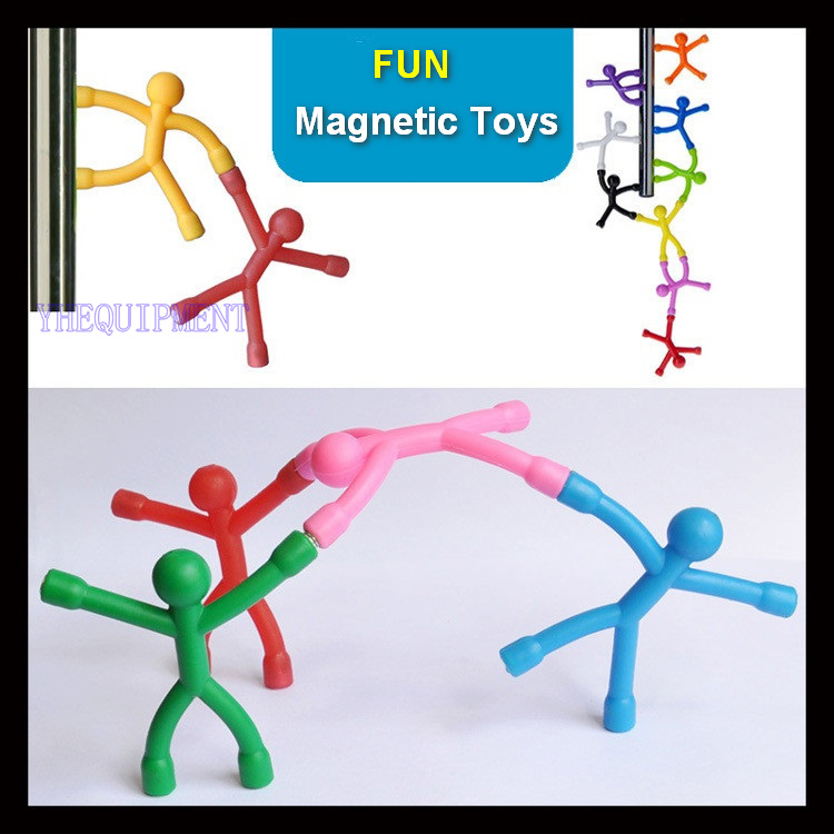10 or 6 Piece/Lot Fun Bendable man Magnetic tools Figure desktop game MINI Novelty Office toy for boy children gift paper parts