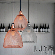 Скандинавский современный минималистичный модный подвесной светильник, железные подвесные светильники для бара, ресторана, сетчатая проволочная клетка для птиц, подвесные светильники для спальни