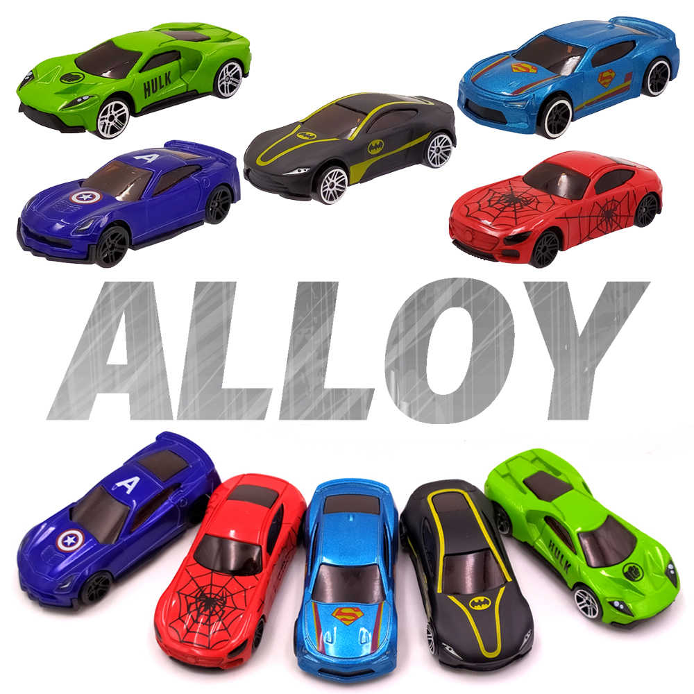Alloy Car Toy 1:64 Metal Diecast Toy Vehicle Super Hero Style Mini Car Model Truck Play Set Car Toy Car Gift for Boys Kids
