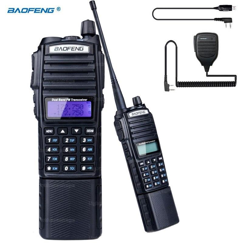 bilder für Tragbares radio walkie talkie baofeng uv-82 mit 4200 mah li-ion akku doppel ptt kopfhörer taste vhf uhf dual + mic + usb