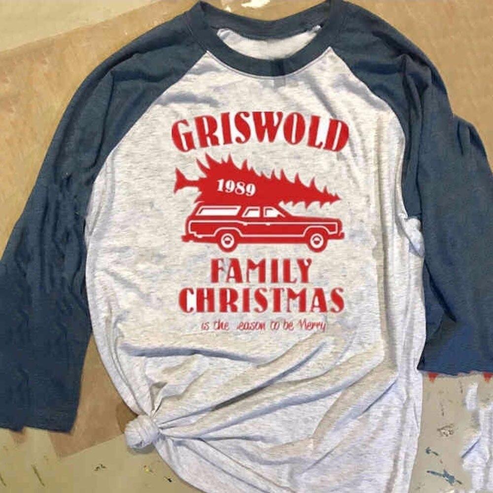 Large Size Merry Christmas T Shirt Women Alphabet Print Long Sleeve Splicing Top TShirt Gray Patchwork Shirt Camisetas Mujer 555