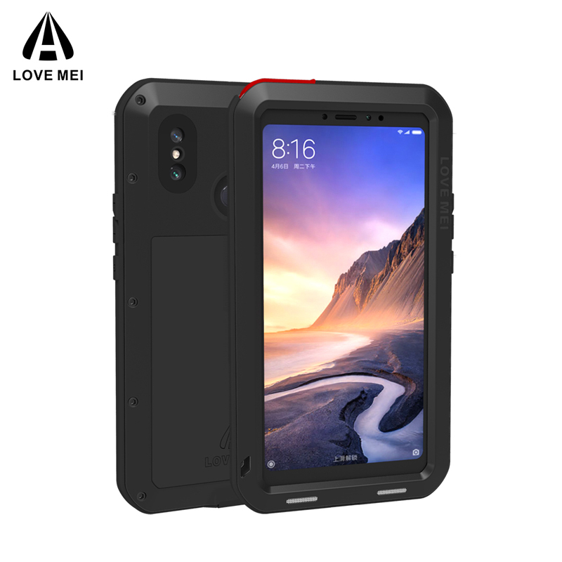 sports shoes d40f5 3864f US $28.0 11% OFF|Xiomi Max3 LOVE MEI Armor Metal Life Waterproof Shockproof  Case for Xiaomi Mi Max 3 Powerful Aluminum Cover For Xiaomi Max3 Case-in ...
