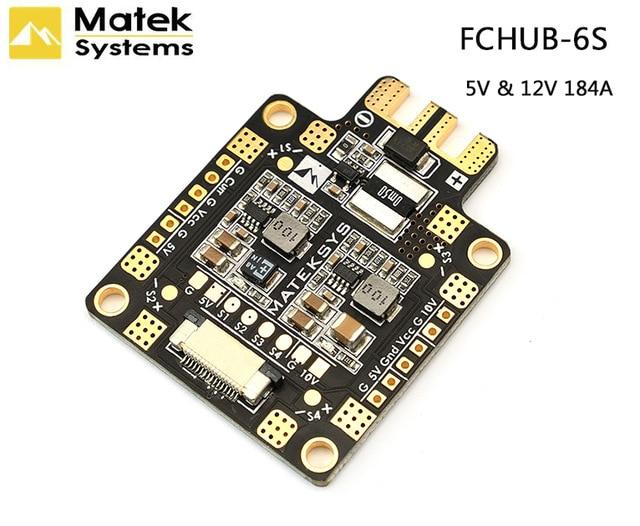 Matek Mateksys FCHUB-6S Hub carte de Distribution d'énergie PDB 5V & 12V BEC intégré 184A capteur de courant pour RC Multicopter