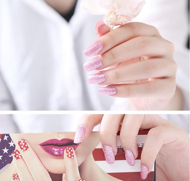 58b2f784d17aa 7 Renk Seçeneği glitter folyo güzellik tırnak sarar yapıştırıcı tam kapak  Tırnak Sticker sparkly nail art sticker dekorasyon sıcak tasarım
