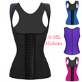 2016 Hot Sale Women Waist Corset 100% Latex Corset Sexy Women Waist Cincher Slimming Body Shaper Wear Plus Size W88011