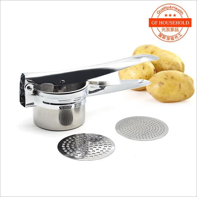 hoge kwaliteit RVS Aardappel Ricer met 2 verwisselbare schijven Fruit - Keuken, eetkamer en bar - Foto 1