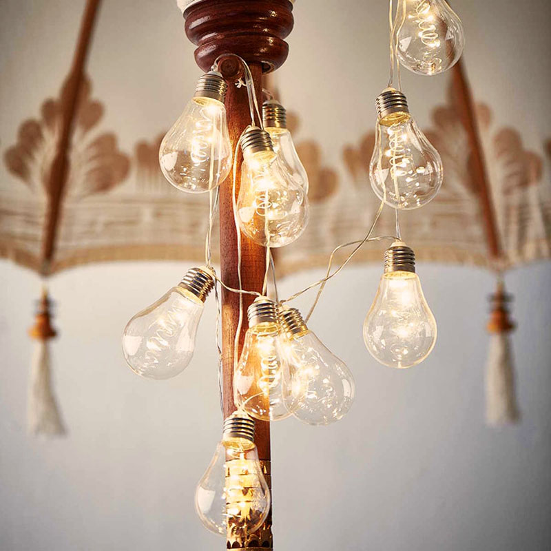 10 Led Copper String Bulbs Retro Vintage Lamp 4M Fairy Festoon Holiday String Lights Wedding Christmas Party Garden Home Decor