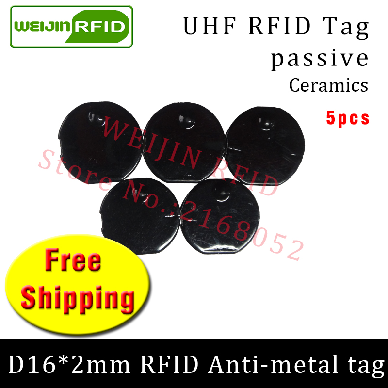 UHF RFID metal tag 915mhz 868mhz Alien Higgs3 EPC 5pcs free shipping D16mm*2mm small circular Ceramics smart passive RFID tags uhf rfid metal tag 915m 868m epc iso18000 6c 20pcs free shipping tools management 12 7 1 2mm thin ceramics passive rfid tags