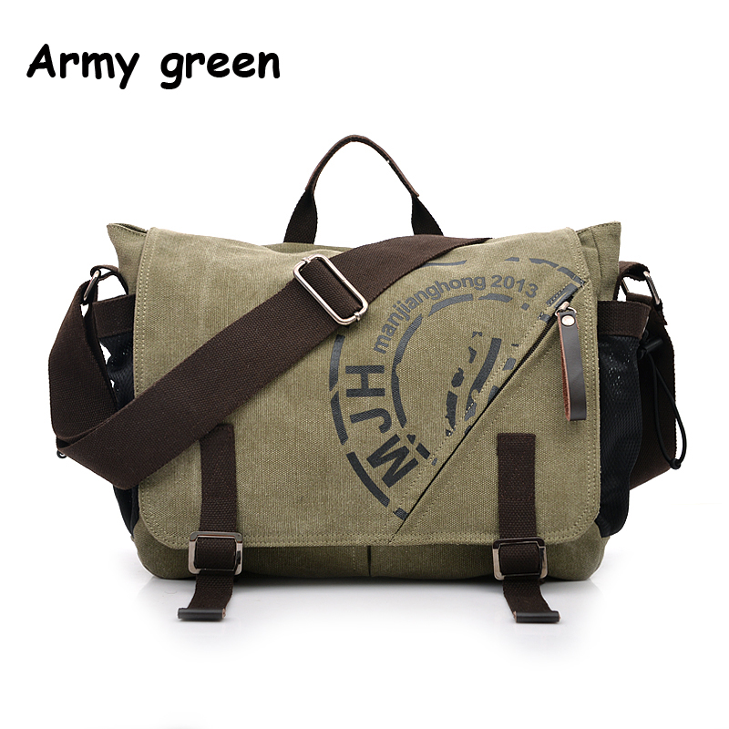Man Canvas Messenger Bags Duffle Tote Travel Shoulder Bag High Quality Tote Bolsa Crossbody Bags Zipper Travel Leisure Handbag