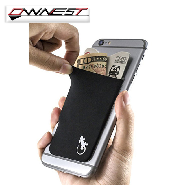 Cell Phone Card Holder >> Elastic Stretchy Lycra Cell Phone Wallet Case Credit Id Card Holder