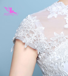 AIJINGYU 2018 elegant free shipping new hot selling cheap ball gown lace up back formal bride dresses wedding dress WK136 4