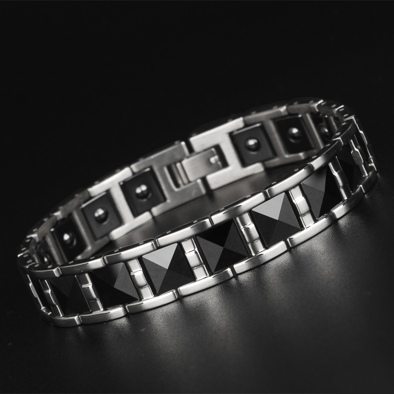 Wolfram Steel Ceramic Bracelet Mens Korean Version Popular Jewelry Stapless JewelryWolfram Steel Ceramic Bracelet Mens Korean Version Popular Jewelry Stapless Jewelry