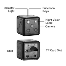 Mini Camera with Infrared Night Detection 1080P HD