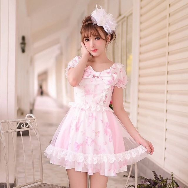 Princess Sweet Lolita Dress Candy Rain Summer Japanese