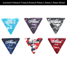 Alice AP-100L 100Pcs/lot Alice Mix Thickness Colorful Equilateral Celluloid Triangle Guitar Picks Wholesale