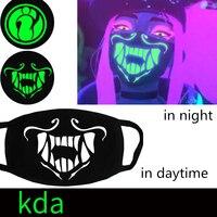 Бесплатная доставка игры LOL KDA K/DA группа Kaisa Ahri Akali Evelynn обувь для девочек косплэй Мода дыхание маска люминесцентный респиратор