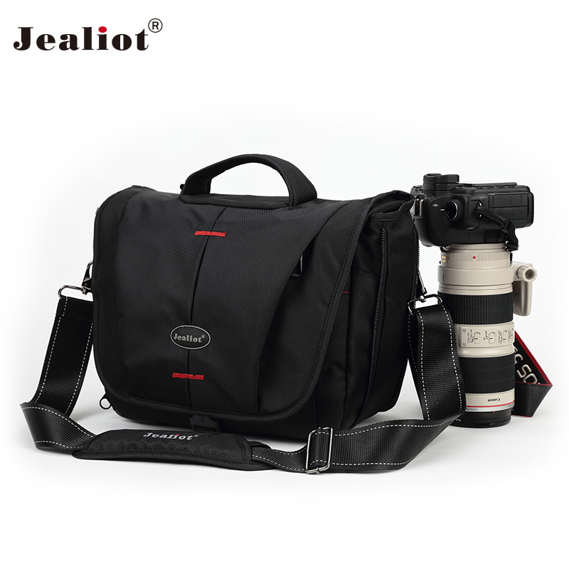 Jealiot SLR DSLR bag for the camera foto bag shoulder bag waterproof digital Video camera Photo lens bag case for Canon Nikon jealiot multifunctional camera bag backpack dslr digital video photo bag case professional waterproof shockproof for canon nikon