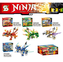 Ninjagoes super hero Knights of the future Minifigures Building Block Bricks Toys Action Figure baby toys SY753