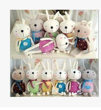 5PCS Many Color  Smile Rabbit Cute And Pretty  Plush Toys Wedding Decorations Birthday Present Free Shipping