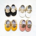 Genuine Leather baby shoes Mixed colors First Walkers The design Toddler baby moccasins fringe Shoes Free shipping