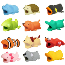 Cable Bite Cute Animal Protector For Apple iPhone Cable Bite Winder Phone Holder Accessory Chompers Funny Rabbit Dog Cat Animal cable bite protector for iphone cable winder phone holder accessory chompers rabbit dog cat animal doll model funny