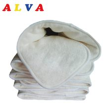 10pcs Alvababy Anti-bacterial Organic 5 layers Bamboo & Microfiber Blended Insert(China)