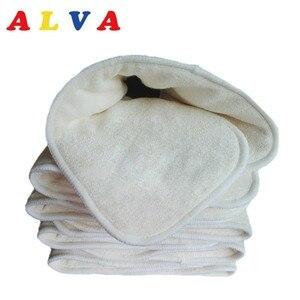 Image 1 - 10pcs Alvababy Anti bacterial Organic 5 layers Bamboo & Microfiber Blended Insert