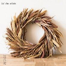 Рождественский Декор ручной работы натуральный сено венки идеи
