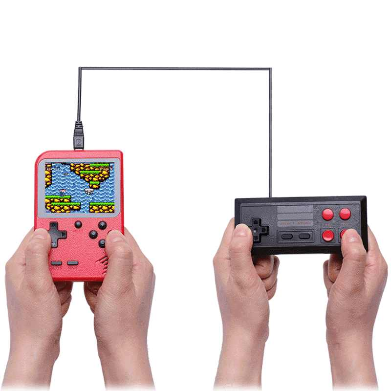 Mini Video Handheld Game Console Retro Doubles Player 3.0 inch LCD 8 Bit  Portable Pocket Console 400 Games To TV with Gamepad|Handheld Game Players|  - AliExpress