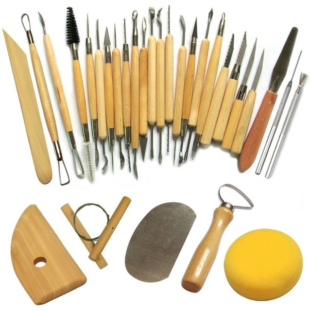 30Pcs/Set Professional Clay Sculpting Tools Pottery Carving Modelling Hobby DIY Crafts Tool Set