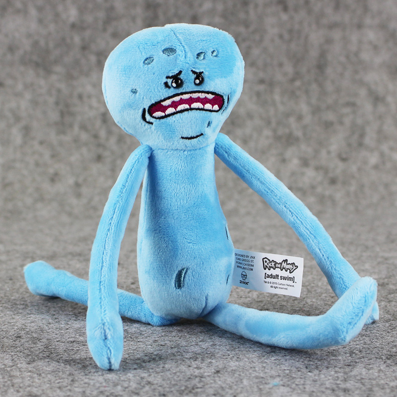1pcs-Rick-and-Morty-Happy-Sad-Mr-Meeseeks-stuffed-plush-toy-free-shipping-3
