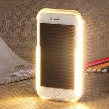 Селфи свет чехол для телефона для iphone 6 6s 7 8 плюс для iphone XS Max XR XS с подсветкой вспышка роскошь для iphone 6 6s 7 8X10 Крышка