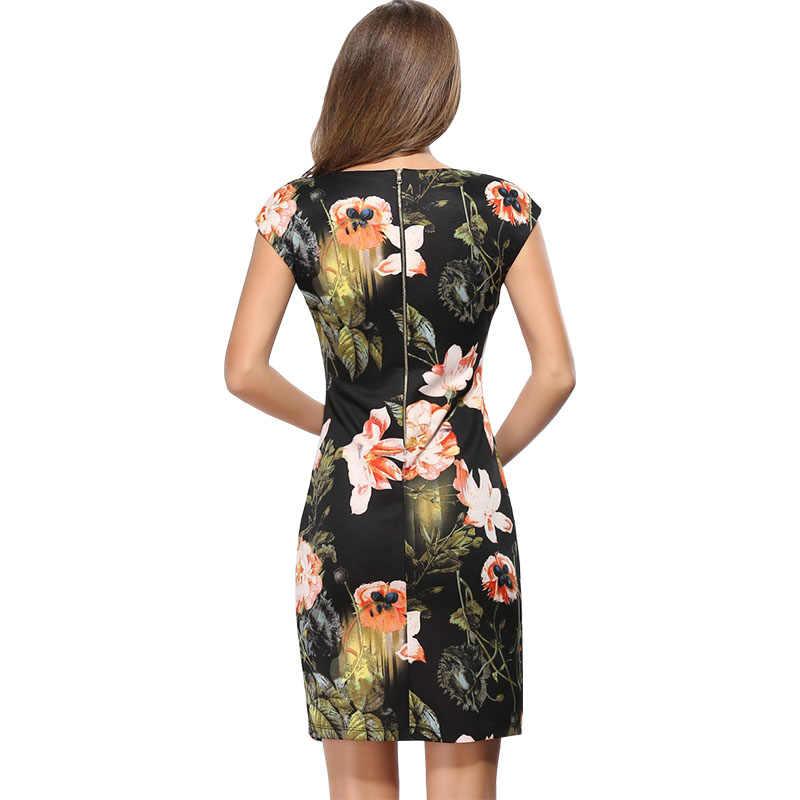 שמלות 2016 AliExpress vintage אירופה אמריקה vestido vestidos עיפרון ירך חבילת שמלה רזה בסגנון cheongsam פרחים LH718