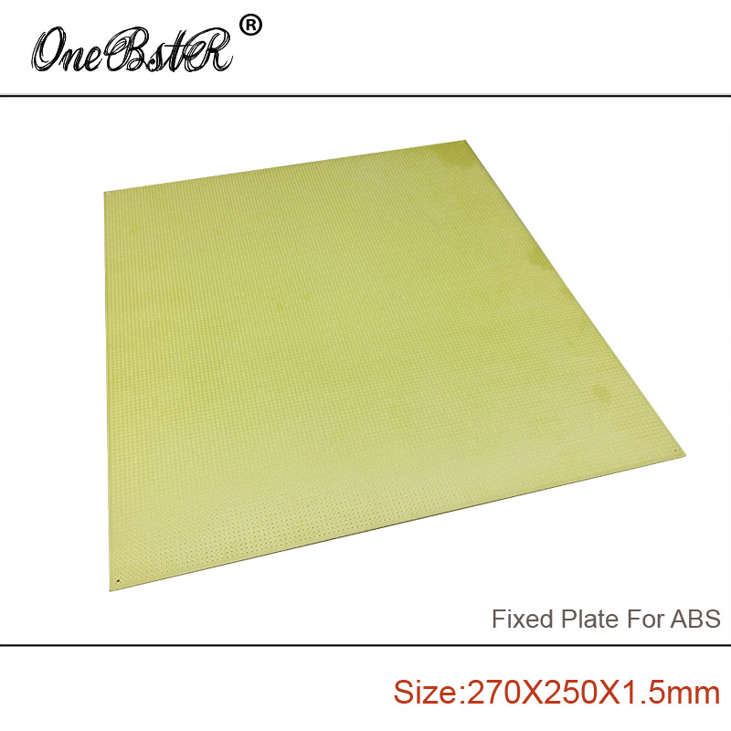 Free Shipping 270x250x1 5mm ABS Special Fixed Plate FR4 Epoxy Boards Porous Pegboard For 3D Printer
