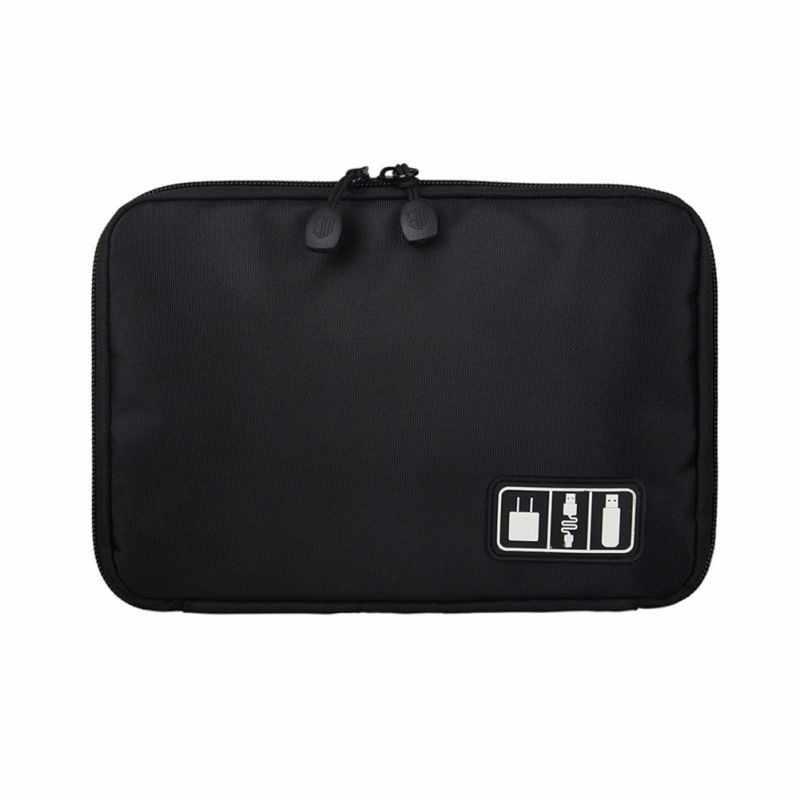 Venta al por mayor de bolsa de almacenamiento Digital de disco duro con cable, bolsa de almacenamiento Digital portátil Simple, bolsa de viaje con líneas de datos, bolsa de almacenamiento