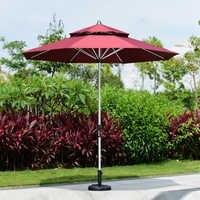 2.7 meter brushed aluminum outdoor sun umbrella patio covers garden parasol sunshade ( no base )