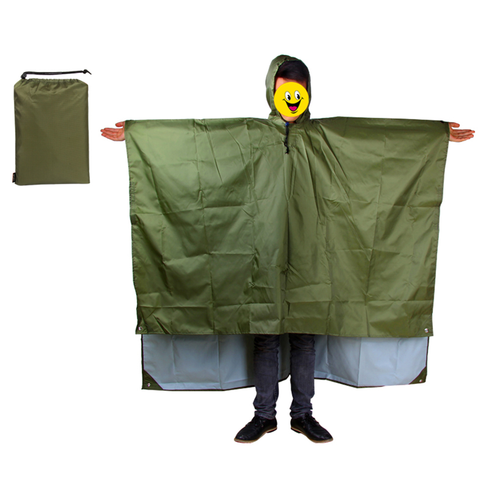 3 In 1 Raincoat Backpack Waterproof Rain Coat With Hood Hiking Cycling Rainwear Poncho Outdoor Camping Tent Mat raincoat in Raincoats from Home Garden