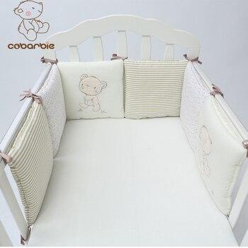 1-14 PCS/LOT bébé berceau pare-chocs lit protecteur bébé enfants coton lit bébé pépinière literie en peluche ours pare-chocs pour garçon et fille