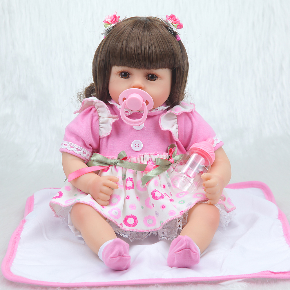Forrsdor New 42cm cotton body Baby girl with cute newborn baby clothes limited Collection toys Silicone Reborn Baby dolls-in Dolls from Toys & Hobbies    1