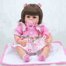 Forrsdor New 42cm cotton body Baby girl with cute newborn baby clothes limited Collection toys Silicone Reborn Baby dolls new 22in 55cm soft cotton body lifelike newborn baby girl with golden hair stripe clothes adora silicone baby dolls reborn toys