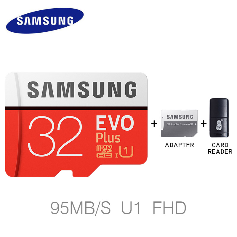 Samsung 32 GB 64 GB Micro SD karte Speicher Karte EVO Plus 128 GB 256 GB Class10 TF Karte C10 SDHC/SDXC UHS-1 Sdcard Carte sd tarjeta