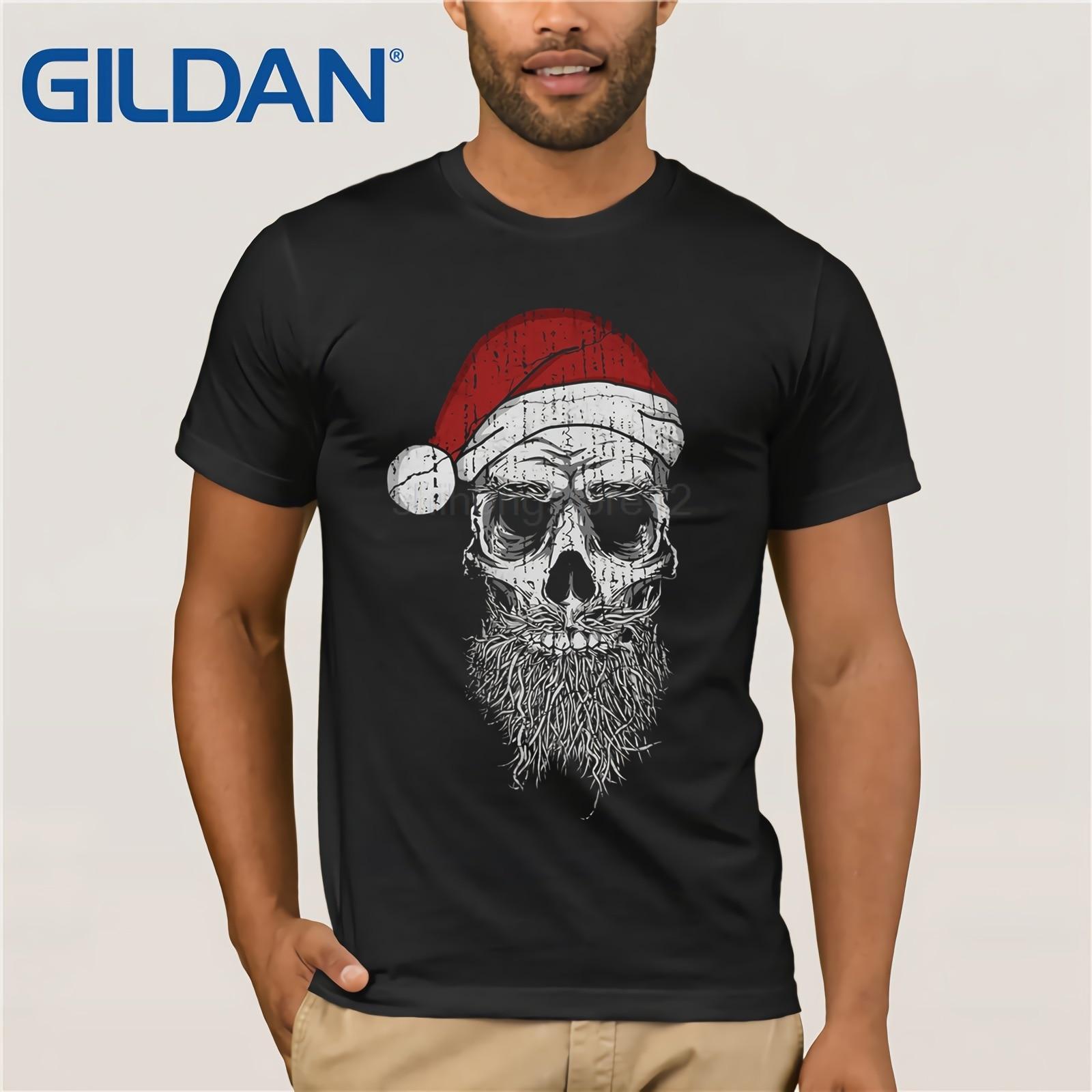2019 summer tee shirt x mas skull t shirt weihnachten heavy weihnachtsmann bad santa evil