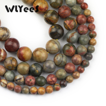 WLYeeS Natural Picasso Stone Bead for Jewelry bracelet Necklace Making DIY 15inch round Beads 6-12mm Factory price