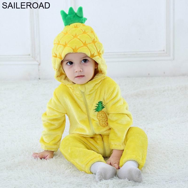 Saileroad Pineapple Sculpt Kigurumi Baby Sleepwear Robe