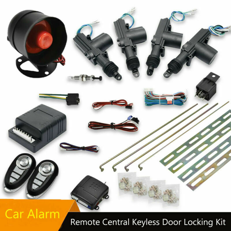 Système d'alarme universel pour voiture à 4 portes avec verrouillage Central et 2 télécommandes