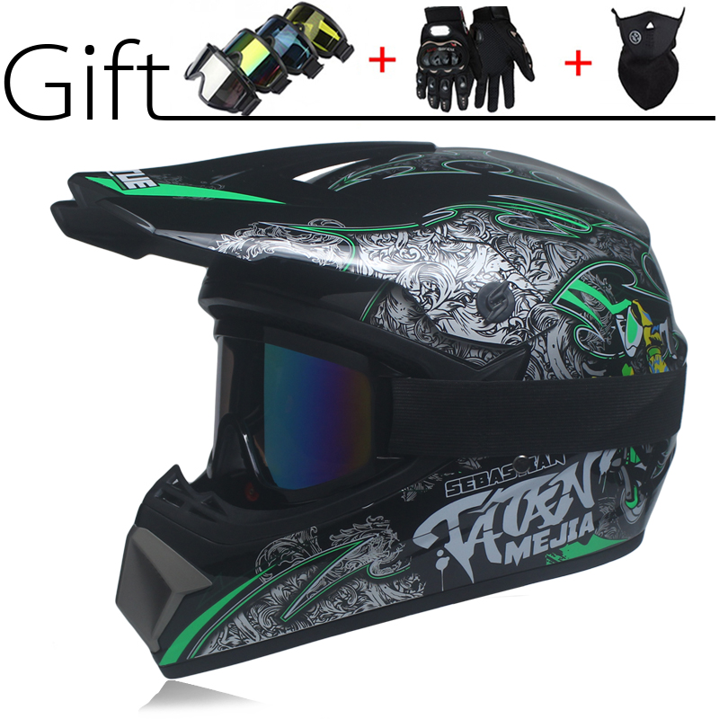 New off road helmet Mountain bike motorcycle helmet ATV downhill mountain helmet DOT 3 free gift